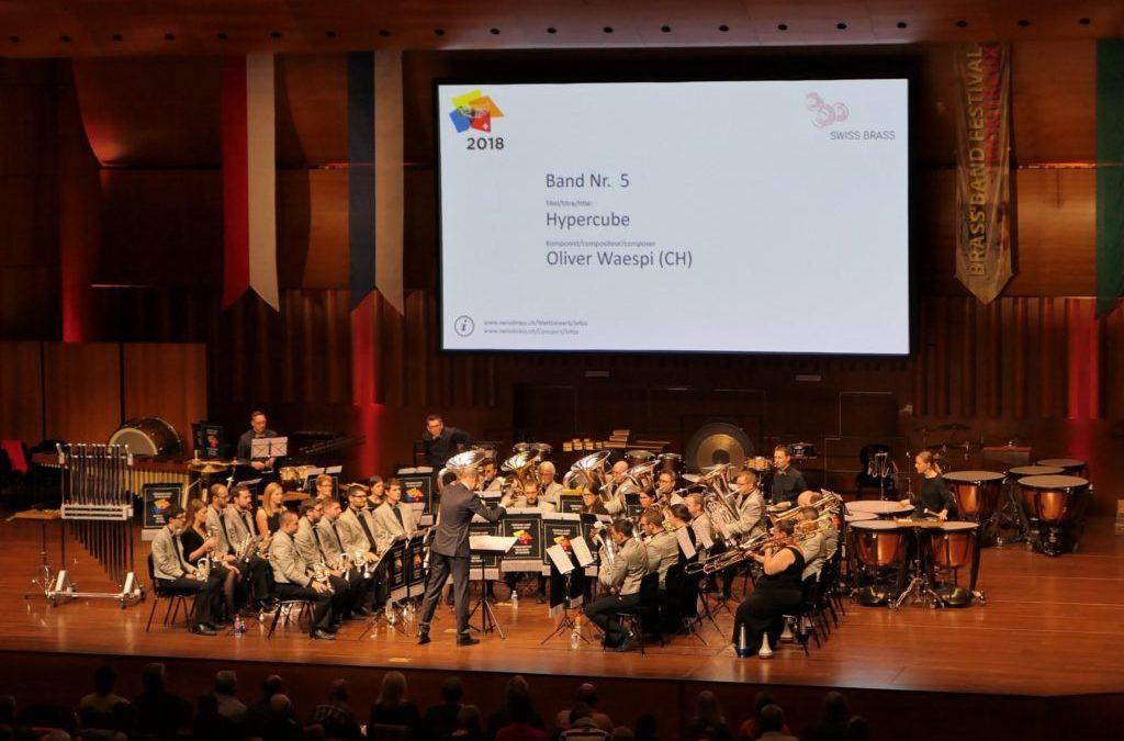 Zwei Bands der mgrr am Brass Band Wettbewerb in Montreux